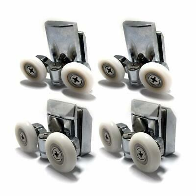 Heavy Duty Twin Zinc Alloy Shower Door Rollers Runners Wheels 23mm 4X