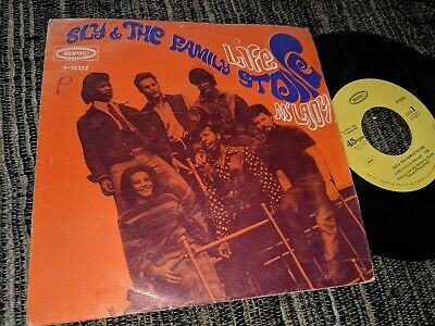 "Sly&The Family Stone Life/M'lady 7"" Single 1968 Epic Spain"