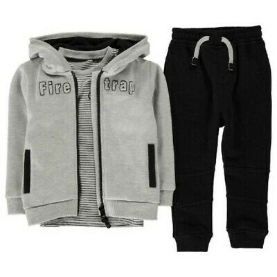 Firetrap Tracksuit Baby Toddler Set 3 Piece Trackies 2021