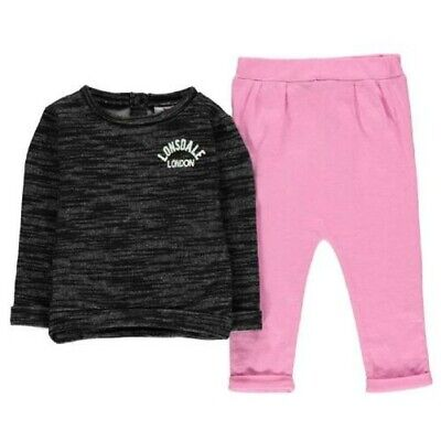 Lonsdale Tracksuit Baby Toddler Set 2 Piece Trackies 2161