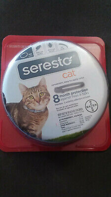 Seresto Flea and Tick Collar for Cats 8 Month Genuine USA EPA Approved