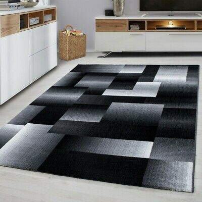 MIAMI SMALL X EXTRA LARGE THICK 12mm HIGH PILE PLAIN SOFT NONSHED RUG-6560 Black