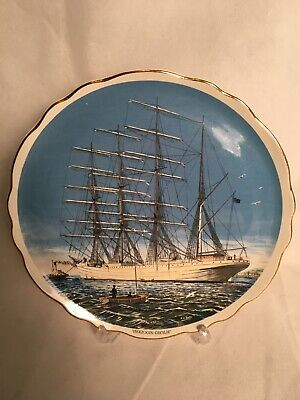 Old Foley Herzogin Cecilie Built 1902 Four Masted Ship Sailing Boating Plate