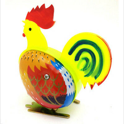 Cute Metal Rooster Shape Clockwork Wind Up Toy Classic Toy For Childrens Gifts