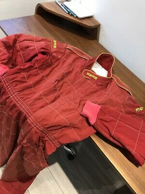 Damaged For Repair VTG Momo Corse FMK FIA 2000/053 Eur Size 56 Red Racing Suit