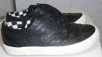 Young Boys Next Trainers Size Uk 10 Eur 28 Black Check Lining Lace Up Kids