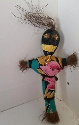 Vintage Voodoo Doll W Pins Clothes Witchcraft N Orleans Refrigerator Magnet