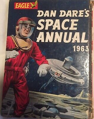 Vintage collectable Eagle Comic Dan Dares Space Annual 1963 book
