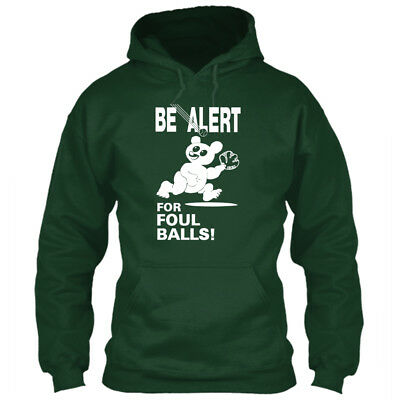 Chicago Cubs Hoodie BE ALERT FOR FOUL BALLS! Sweatshirt Wrigley Field Sign Logo
