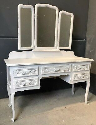 Vintage French Dressing table / Painted French   shabby chic style (VB324)