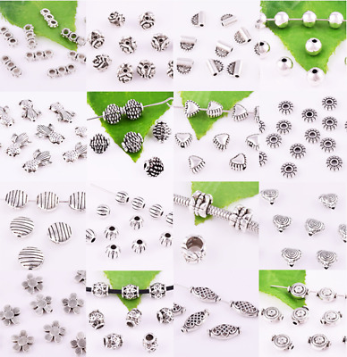 Lots Tibetan silver Charms Loose Spacer Beads Jewelry Findings XZ103120