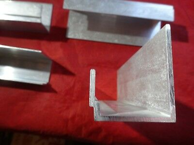 """Aluminum  Custom Channel 6"""" In Length 4 Pieces"""