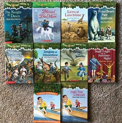 TEN-PACK BUNDLE / LOT OF MAGIC TREE HOUSE BOOKS ~ Homeschool Children's Chapters