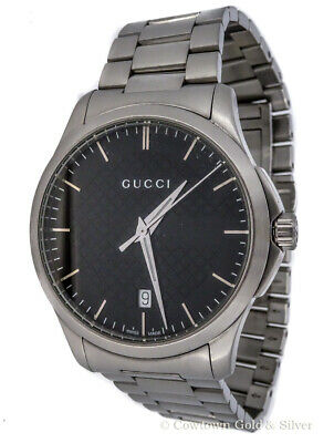 4ad999c031a Gucci Mens G-Time 38Mm Black Dial Stainless Steel Swiss Watch Ya126457