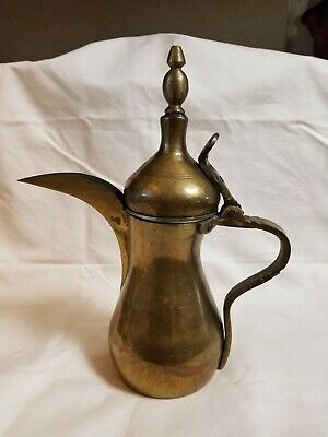 Vintage Arabic Persian Middle Eastern Brass Copper Pitcher / Teapot. RARE Cond
