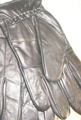 26fb03c225136 Men's Genuine Leather Black Gloves 40 gram Thinsulate Lining M, L or XL BNWT