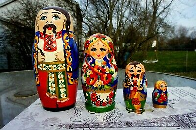 Pack of 14 Russian Colorful Matryoshka Doll Magnets 3 1//2 Inch Gift For Kids