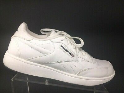 493d830109385 REEBOK CLASSIC MENS Leather Athletic Shoes Size 10 White Gray Retro ...