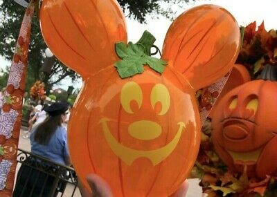 Disney Parks Halloween 2019 Pumpkin Mickey Balloon Popcorn Bucket Disneyland New