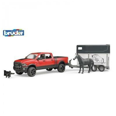 Bruder 1/16 RAM 2500 Power Wagon with Horse Trailer 02501 Brand New