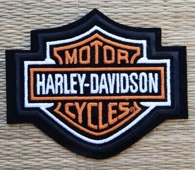 Harley Davidson Milwaukee Bucks Classic Orange Logo Patch Sew Iron On Motorcycle