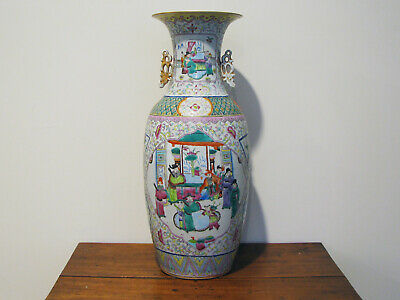 "Large Antique Chinese Porcelain Floor Vase - Late 19C - 23"" Tall"