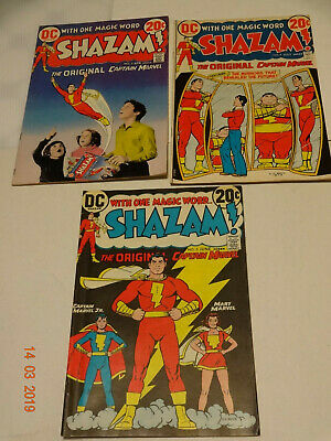 Shazam #2,3,4 Nice Bronze Age Group Movie Out