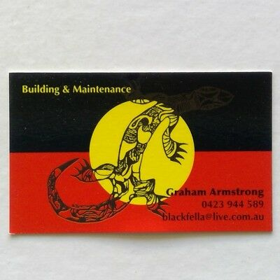 Graham Amstrong Building & Maintenance 0423944589 Business Card