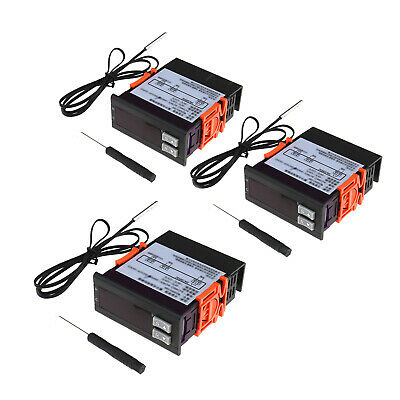 1x/2x 220V 10A Electronic Thermostat Digital LCD Temperature Controller