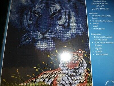 Janlynn Counted Cross Stitch Kit Roger Reinardy Tiger NIP