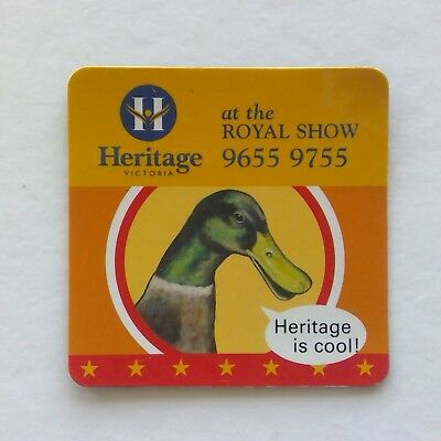 Heritage Victoria at the Royal Show 96559755 Mallard Duck Fridge Magnet (F1)
