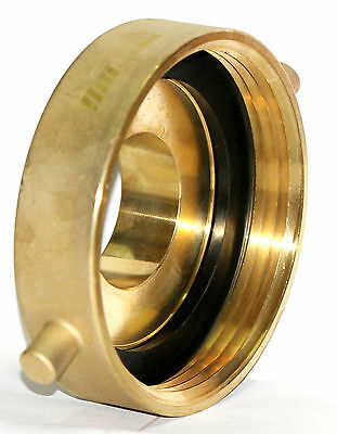 "NNI Brass Hydrant Adapter 4-1/2"" NST (NH) Female x 2-1/2"" NST (NH) Male"