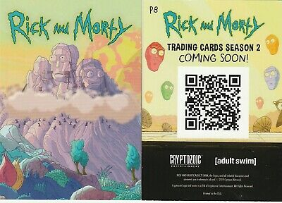 2019 Wondercon Exclusive Rick And Morty Season 2 Promo Card P8 Cryptozoic