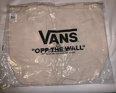 0c7d992f74 ⚡ ⚡️vans Family Off The Wall Canvas Tote Bag Sack Skate Factory Sealed New