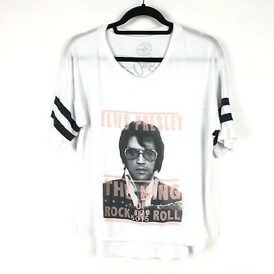 d00a8ed4f19 Recycled Karma Womens Size XS Elvis Presley Short Sleeve Graphic Tee  Oversized