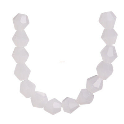 200Pcs Jade White Faceted 4mm Crystal Glass DIY Spacer Beads New Findings Gift L