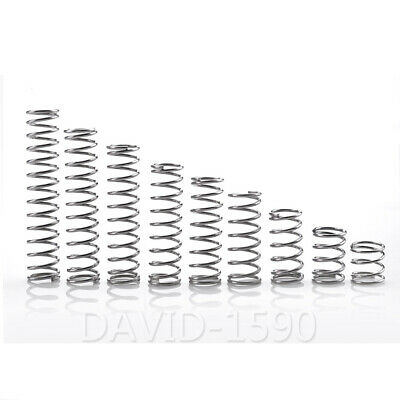 0.8mm Wire Dia. 6-14mm Outside Dia. Compression Spring 304 Stainless Steel