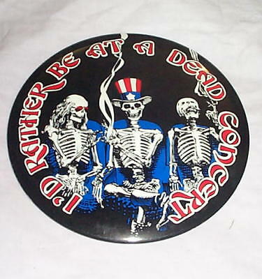 GRATEFUL DEAD Vintage 6 inch Skeletons PIN New Condition