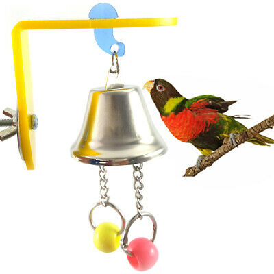 Bird Parrot Toy Chew Toys Large Pet Bells Cage Bell Swing Hanging Bell Toys SG