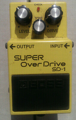 Boss SD-1 Super Overdrive Electric Guitar Effects pedal.