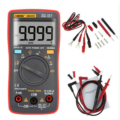 AN8008 Digital Multimeter Auto Range 9999 RMS AC/DC Spannung Tester Meter