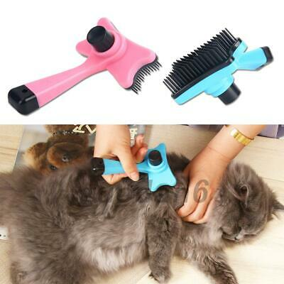 Button Pet Dog Cat Puppy Hair Shedding Grooming Trimmer Fur Comb Slicker Brush