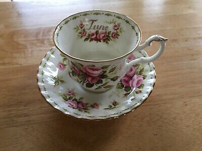 Royal Albert June Flower of the Month cup and saucer