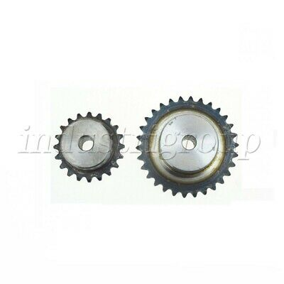2PCS 25H/04C/2 Chain Drive Sprocket Pitch Spur Gear with Step 12 Teeth