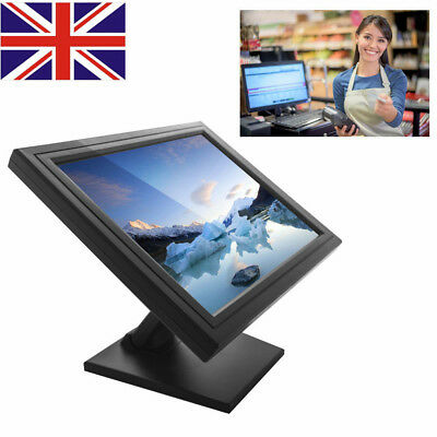 "17"" LED VGA USB Touch Screen Monitor Stand POS Monitor for Restaurant Retail"