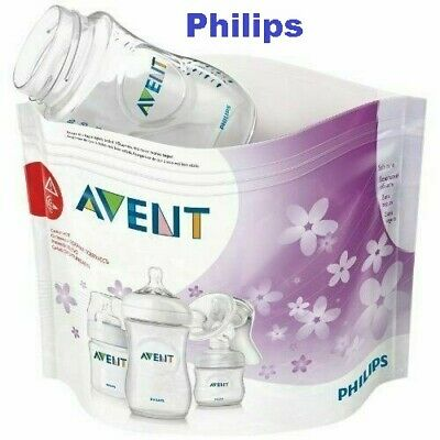 Philips AVENT Microwave Steam Steriliser Bag - Pack of 5 Reusable Bags SCF297/05
