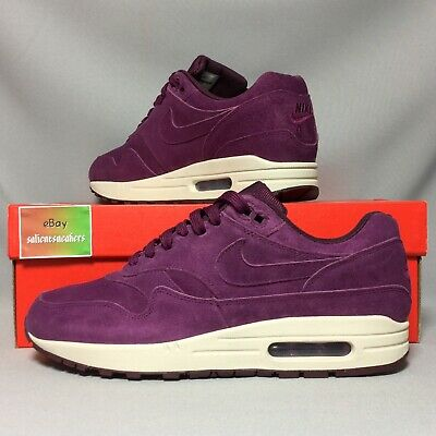 best sneakers a3cb5 139eb Nike Air Max 1 Premium UK8 875844-602 EUR42.5 US9 Bordeaux purple suede