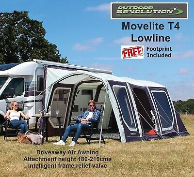 Outdoor Revolution Movelite T4 Lowline 2019 Package - Fixing height 180-210cms