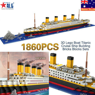 1860PCS 3D TITANIC Ship Building Blocks Kit Model Assembly