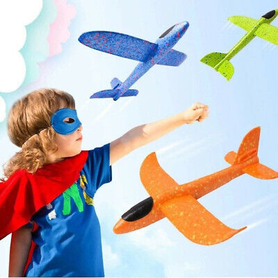 Hand Throw Flying Plane Kids Toys Foam Aeroplane Model Outdoor Launch Glider Toy